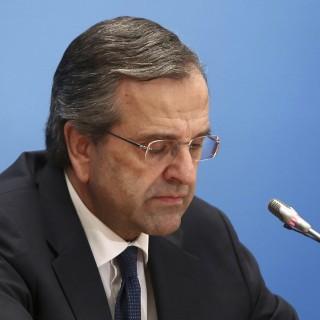 Samaras, la imagen de la derrota