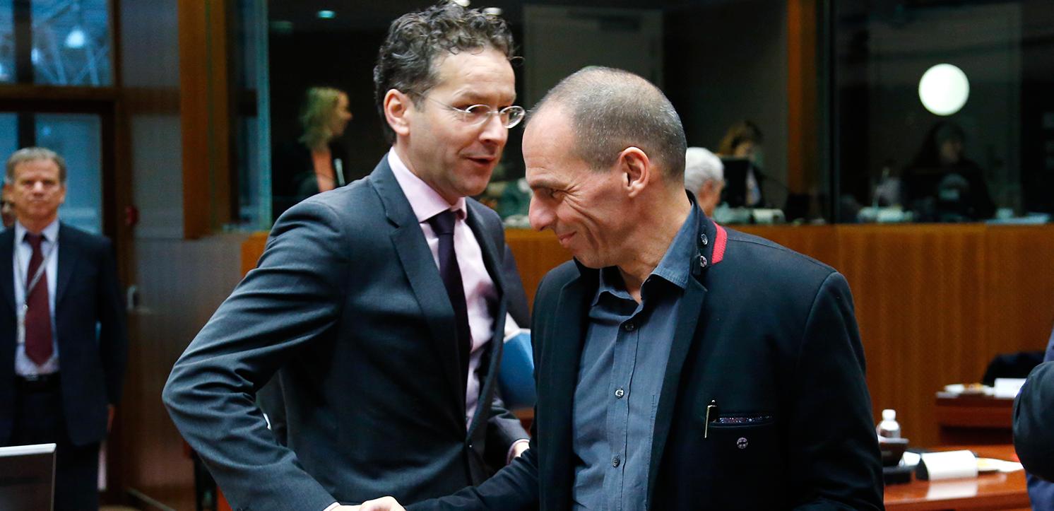 Jeroen Dijsselbloem y Yanis Varoufakis