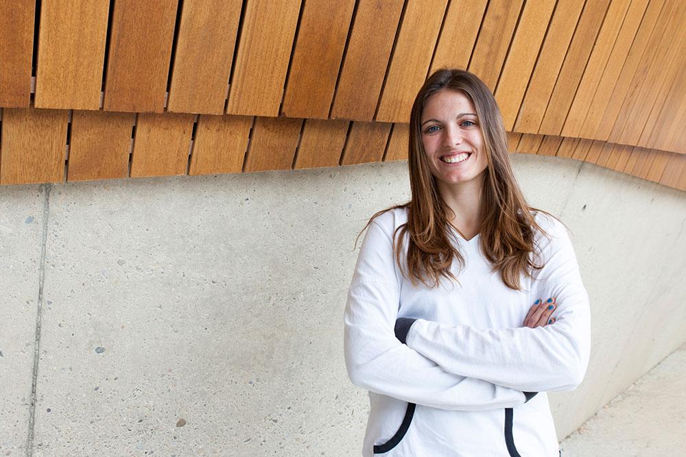 Rebeca Sedano ha sido elegida delegada en el tercer año de la carrera. Espera poder ser profesora de Educación Física.
