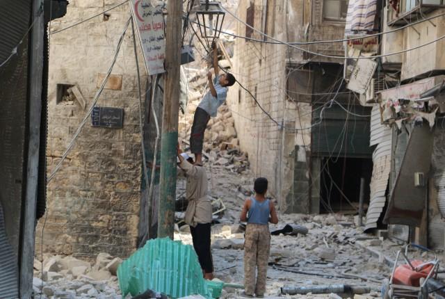 Bombardeo en Aleppo