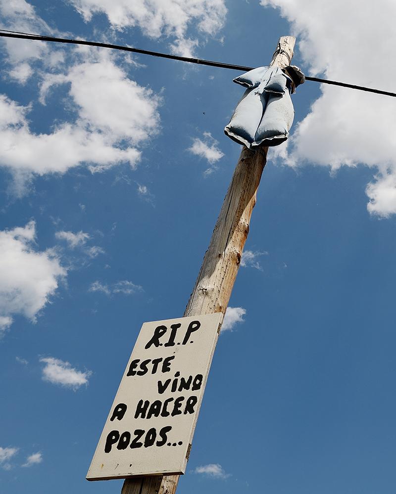 Muestra de rechazo al 'fracking' en la localidad burgalesa de Castrobarto.