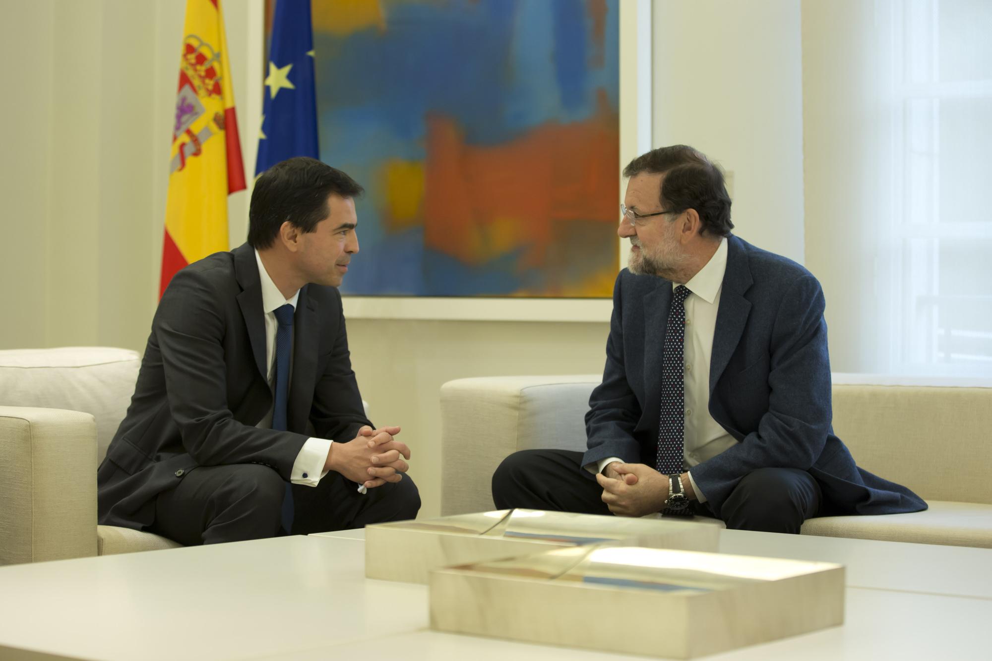 03/11/2015 Madrid, España  El Presidente del Gobierno, Mariano Rajoy,  recibe al portavoz de UPyD, Andrés Herzog. Fotografía: Diego Crespo / Moncloa Presidencia del Gobierno