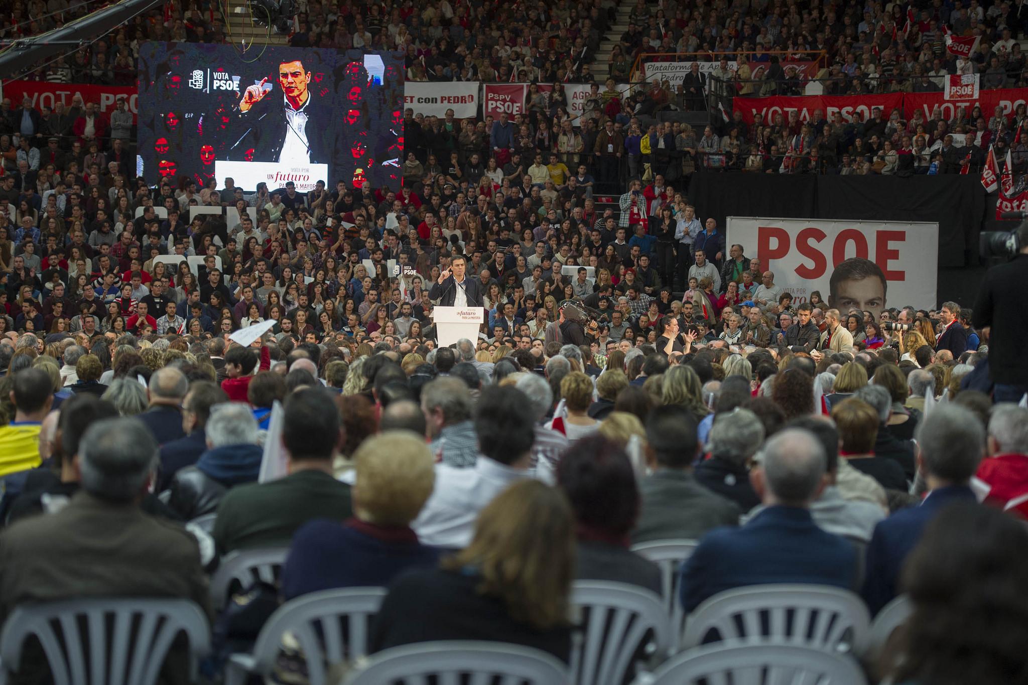 Mitin del Pedro Sánchez, líder del PSOE