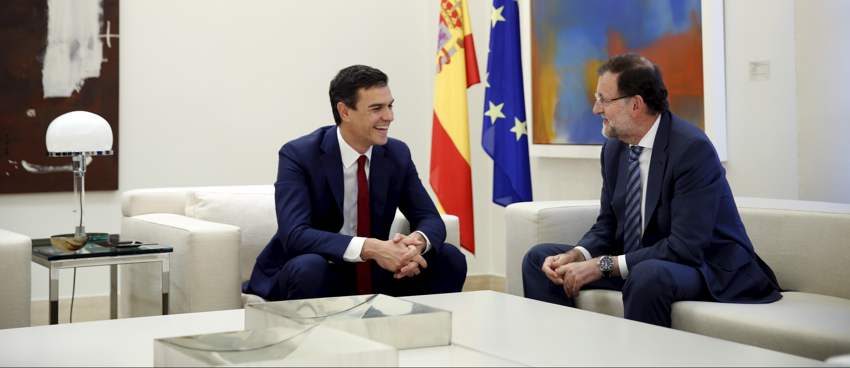 Pedro Sánchez y Mariano Rajoy. Reuters