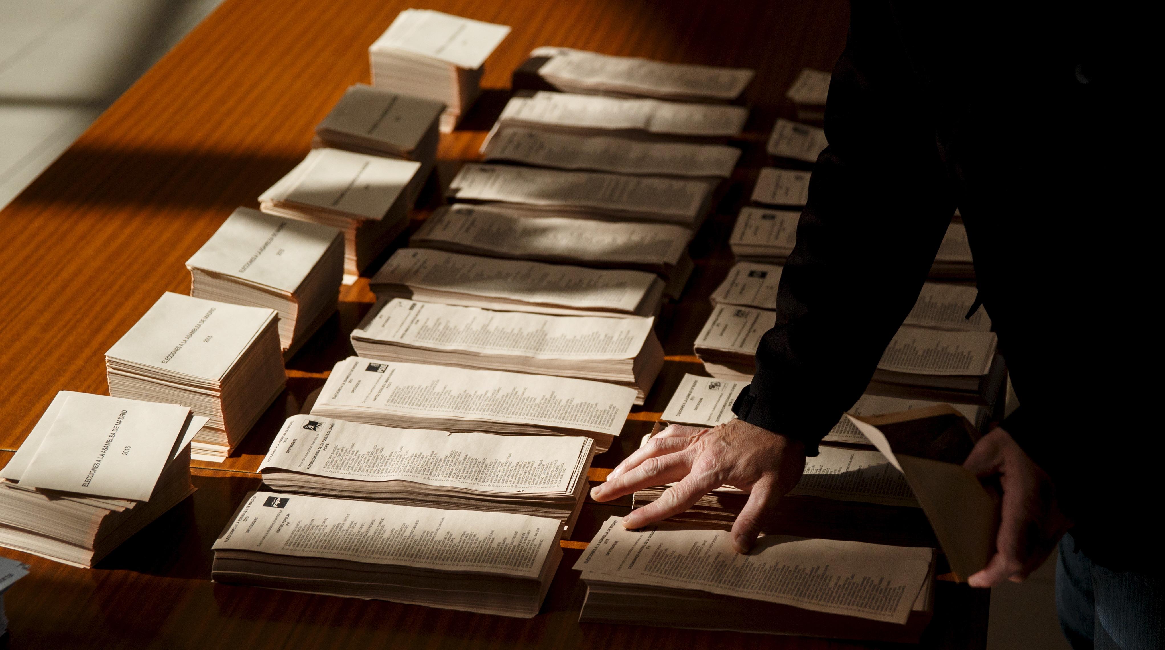 Elecciones papeletas