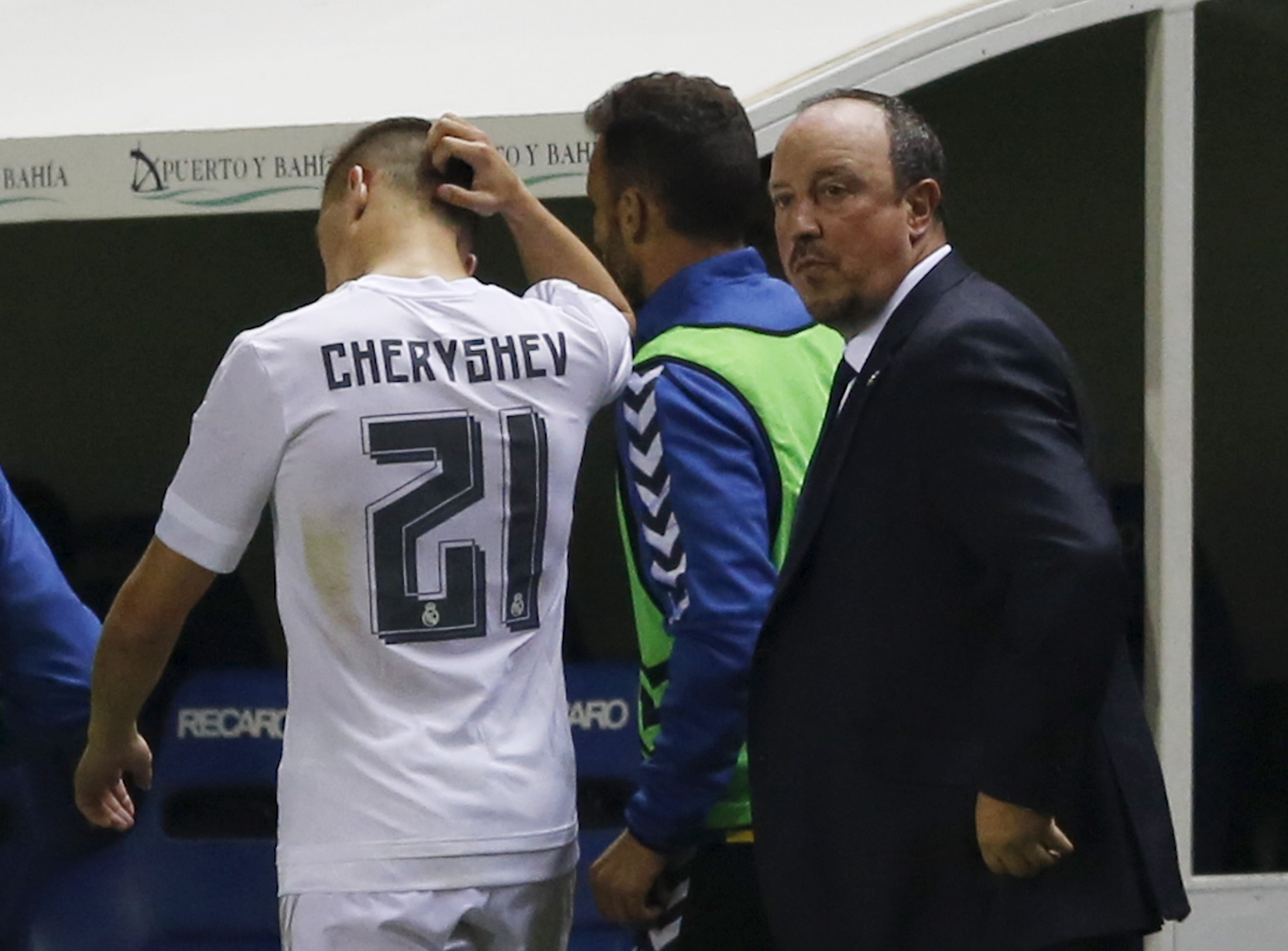 Rafael Benitez y Cherishev. Reuters