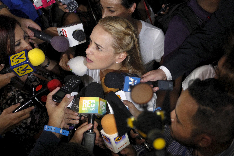 Lilian Tintori, esposa de Leopoldo López. Reuters