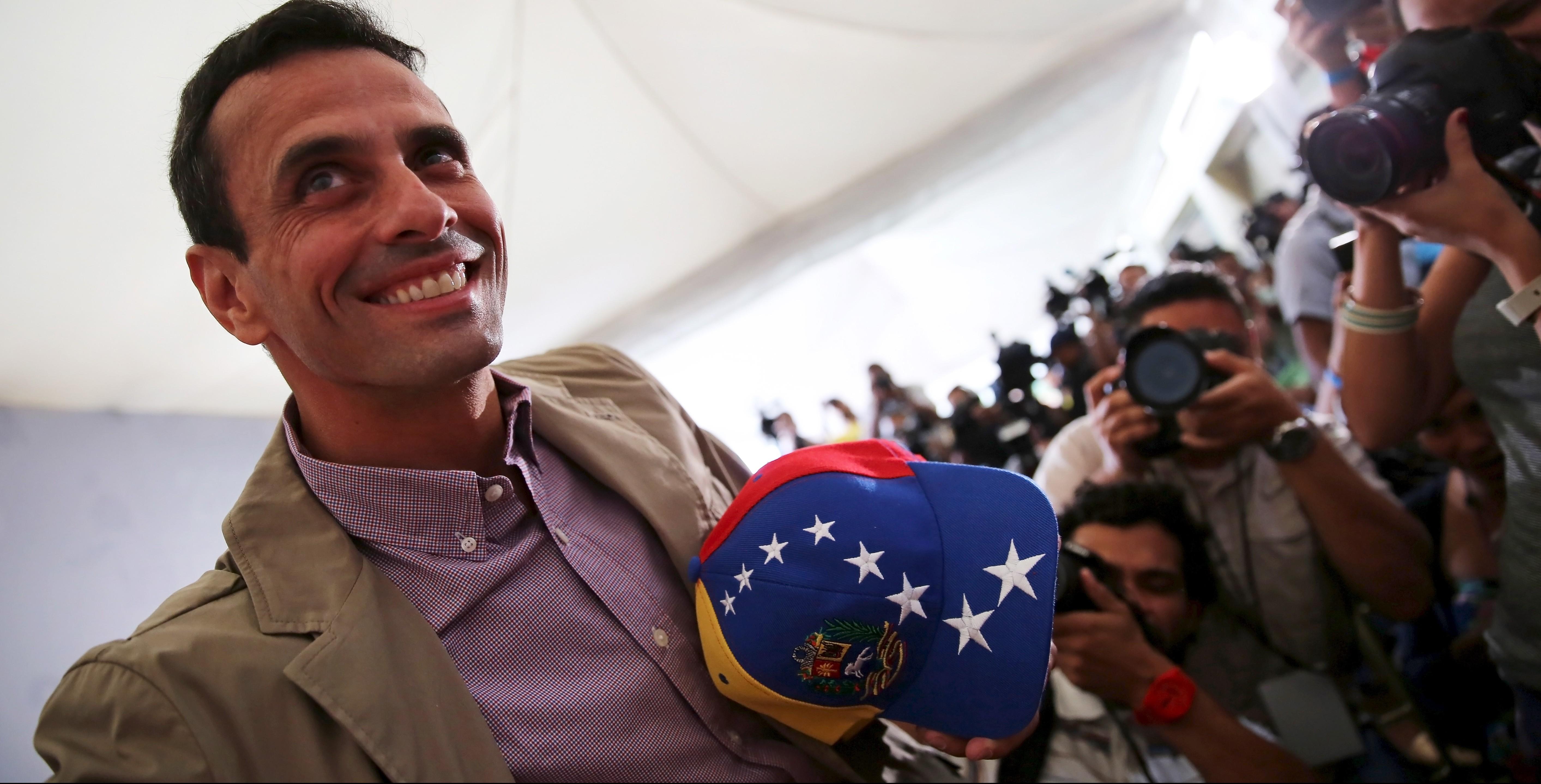 El lider opositor Henrique Capriles