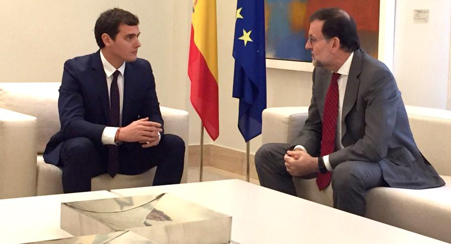Rivera y Rajoy, en La Moncloa.