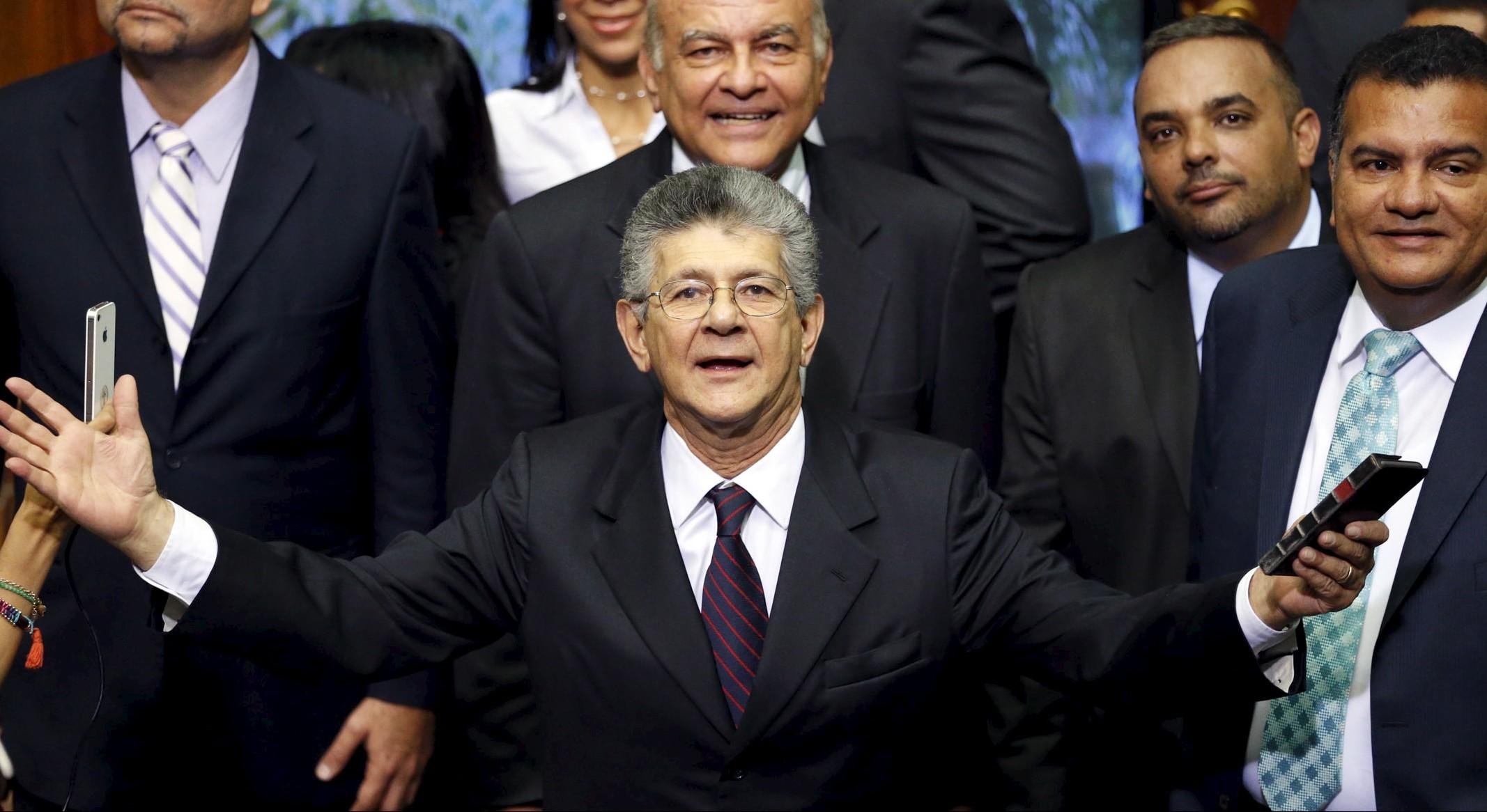 Henry Ramos Allup, presidente de la Asamblea Nacional venezolana.  Reuters