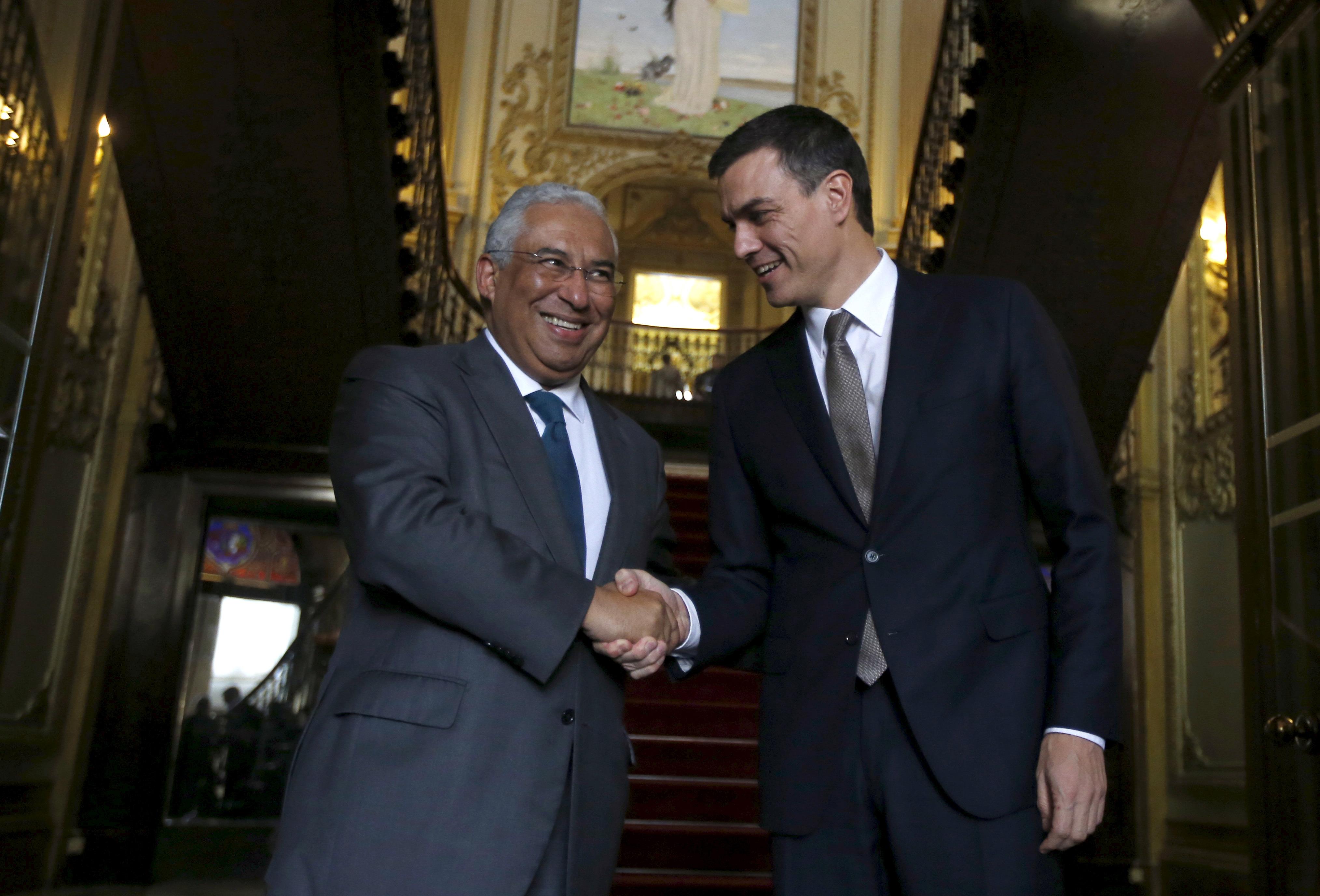 Antonio Costa y Pedro Sánchez. Reuters