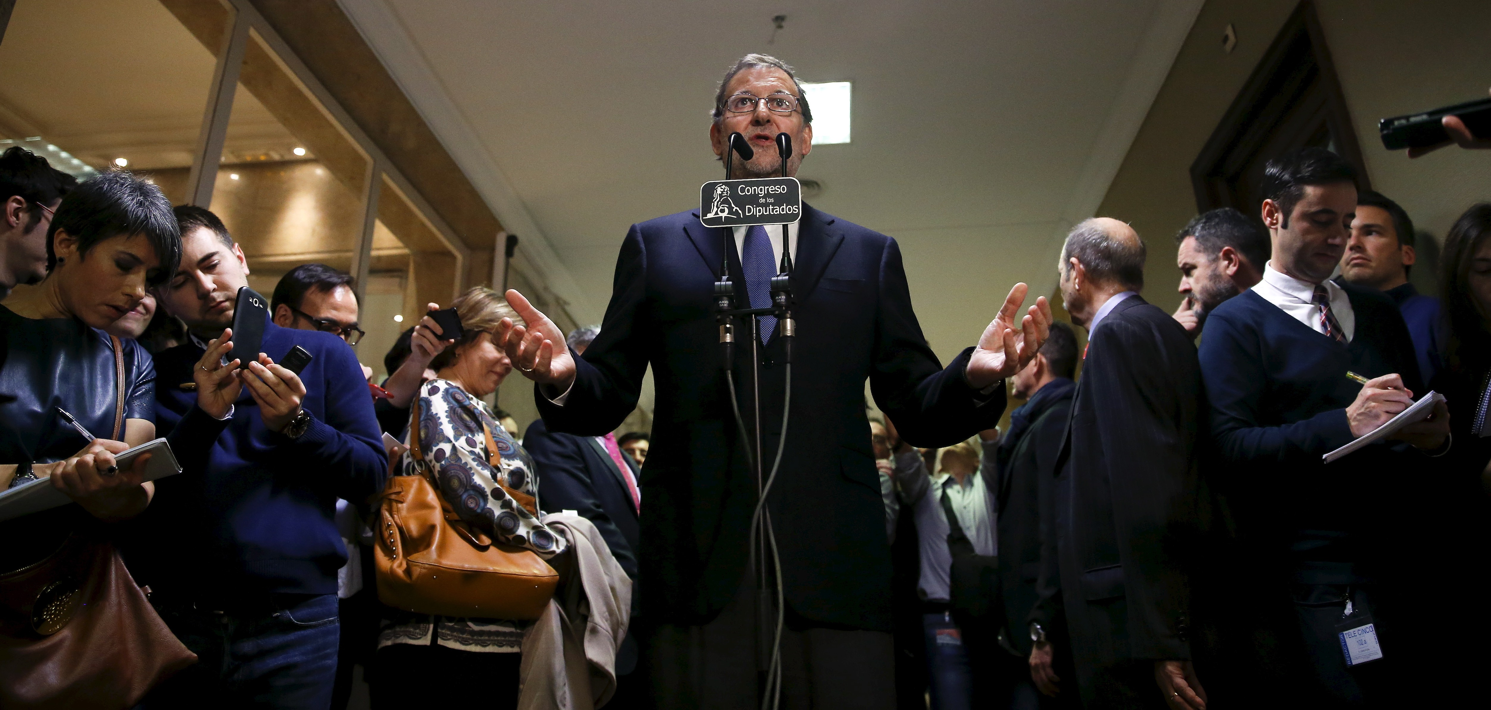 El presidente del Gobierno en funciones, Mariano Rajoy, en el Congreso.  Foto: Reuters