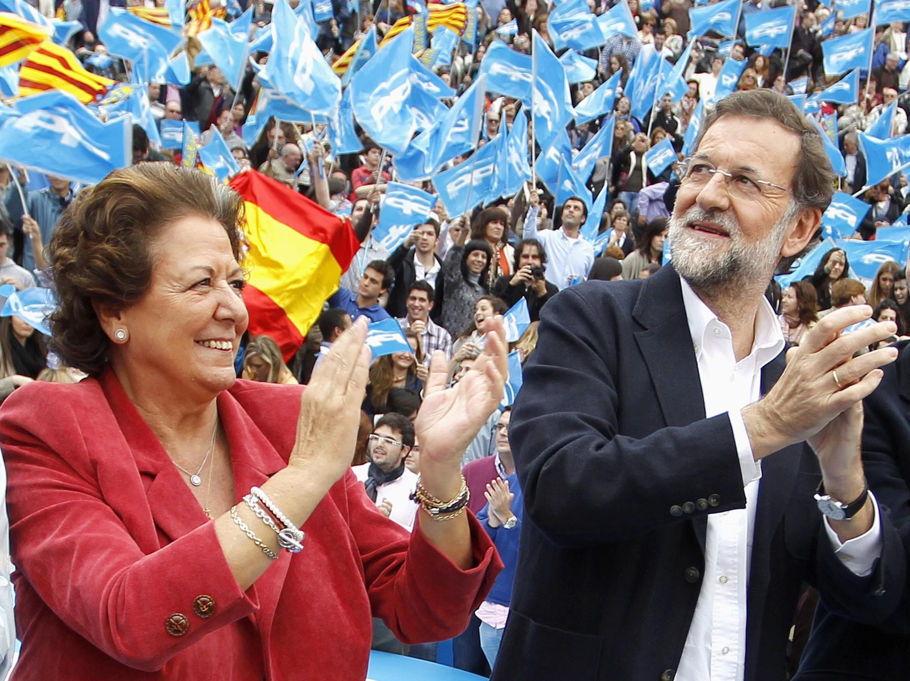Rita Barberá, Mariano Rajoy y Alberto Fabra. Reuters