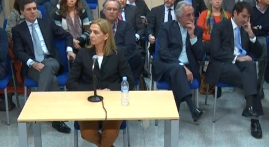 Infanta Cristina de Borbón en el juicio del 'caso Nóos'