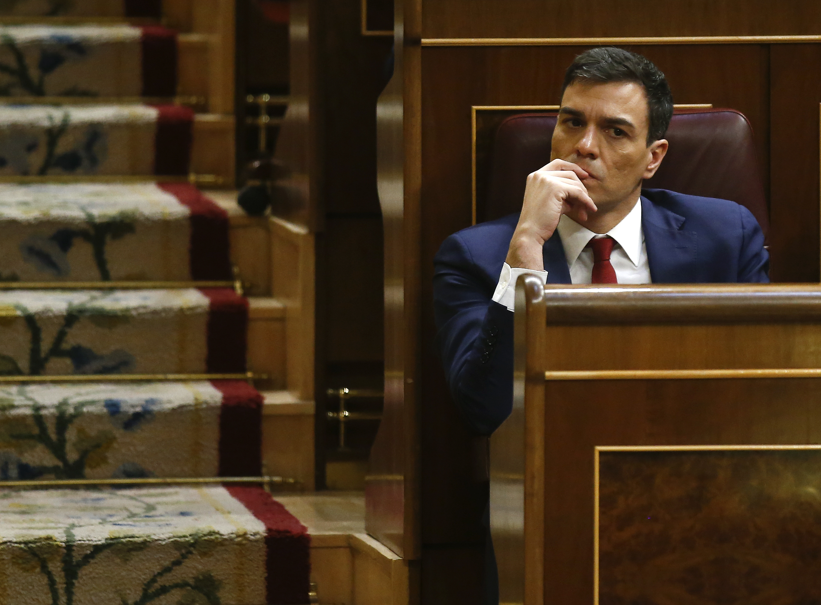 Spain's Socialist Party (PSOE) leader Pedro Sanchez attends an investiture debate at parliament in Madrid, Spain, March 2, 2016. REUTERS/Andrea Comas - RTS8XN8