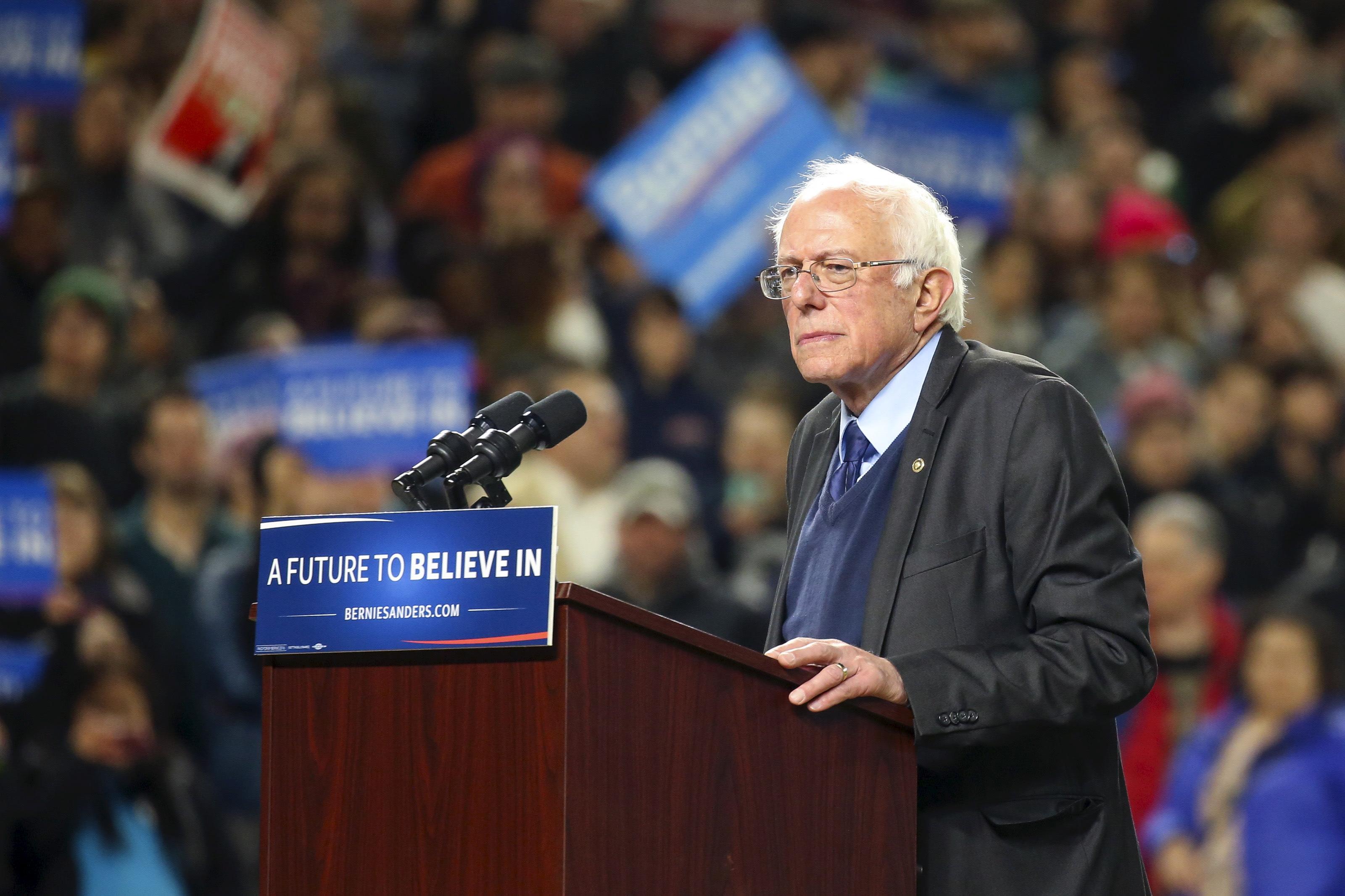 El candidato demócrata Bernie Sanders. Reuters