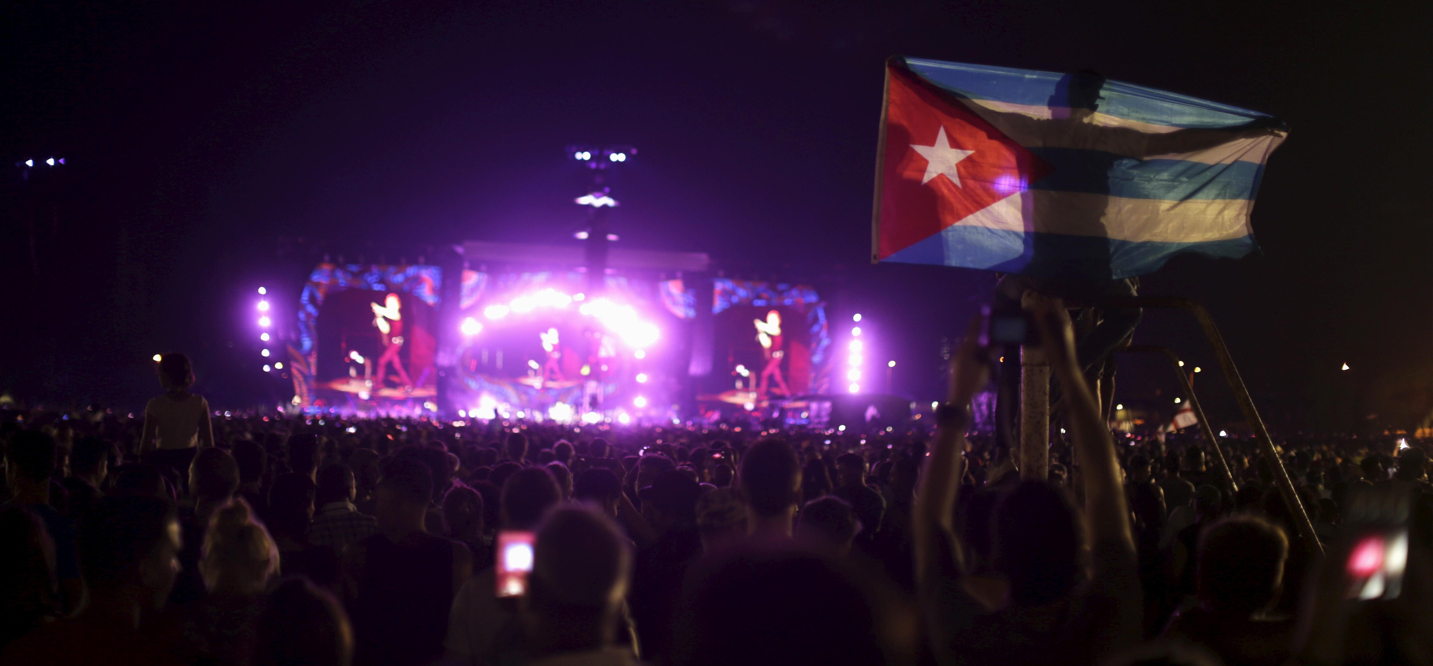 Concierto de los Rolling Stones en La Habana, Cuba. FOTO: Reuters