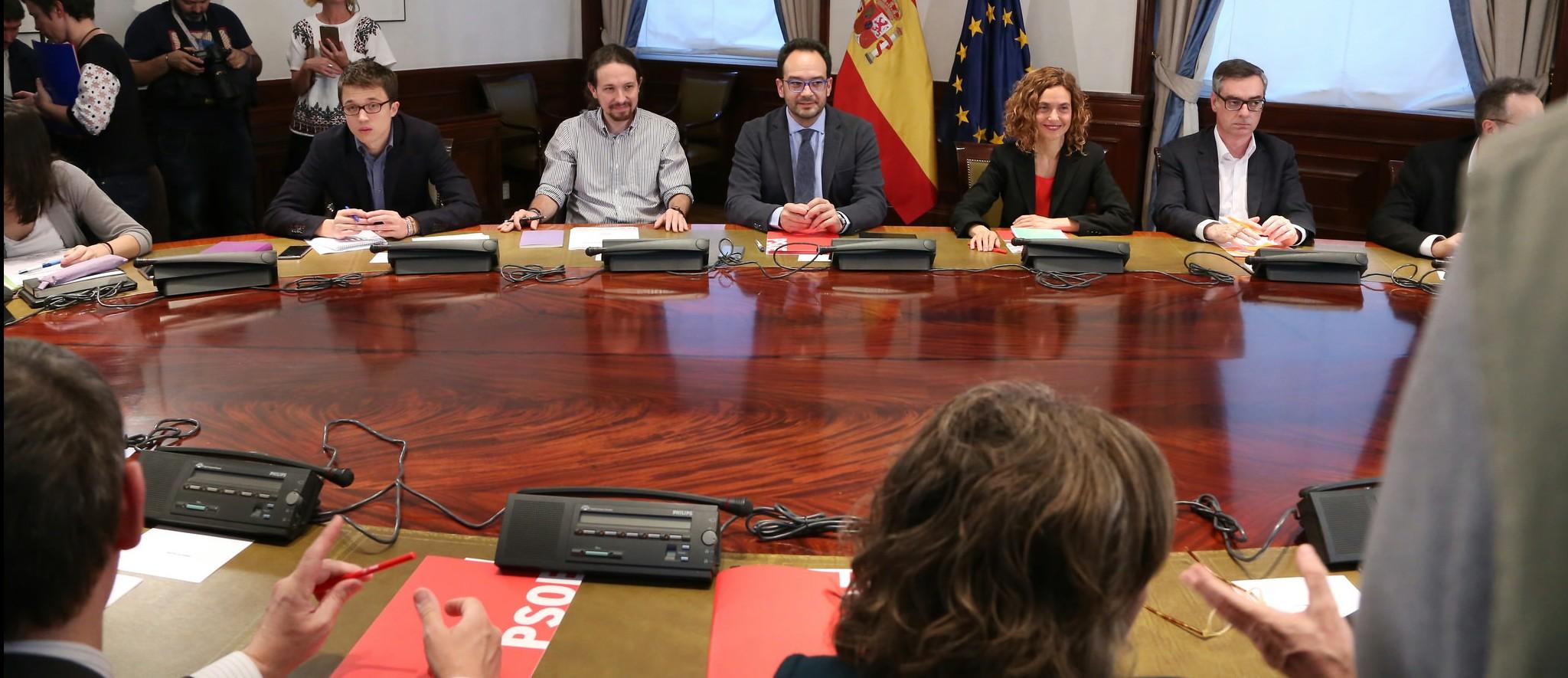 Reunión PSOE, Ciudadanos, Podemos,