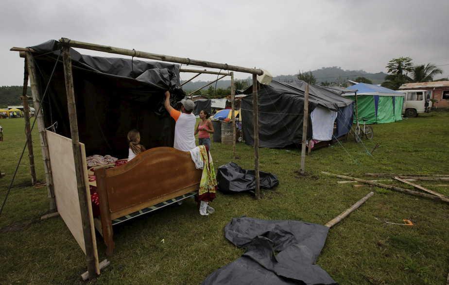 Familias evacuadas en Pedernales (Ecuador). Reuters