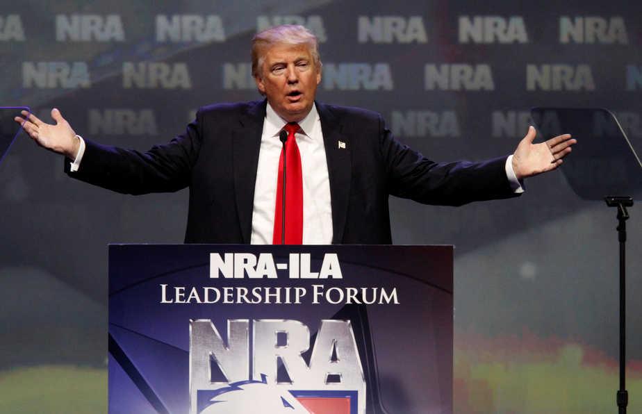 Donald Trump NRA FOTO: Reuters