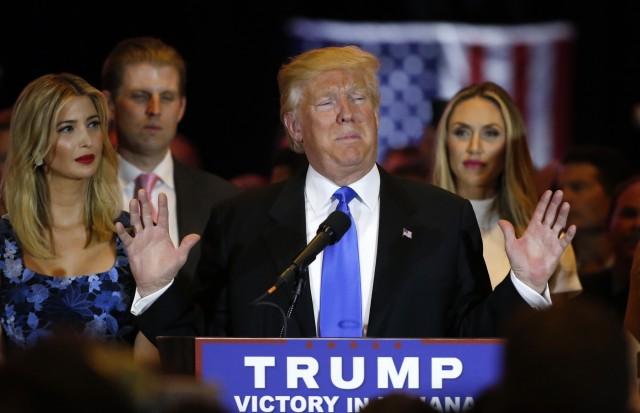 El republicano Donald Trump durante su campaña en Indiana. Reuters
