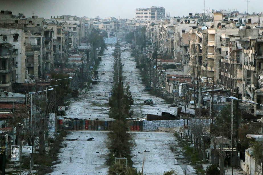 Vista general de un barrio de Aleppo. Reuters