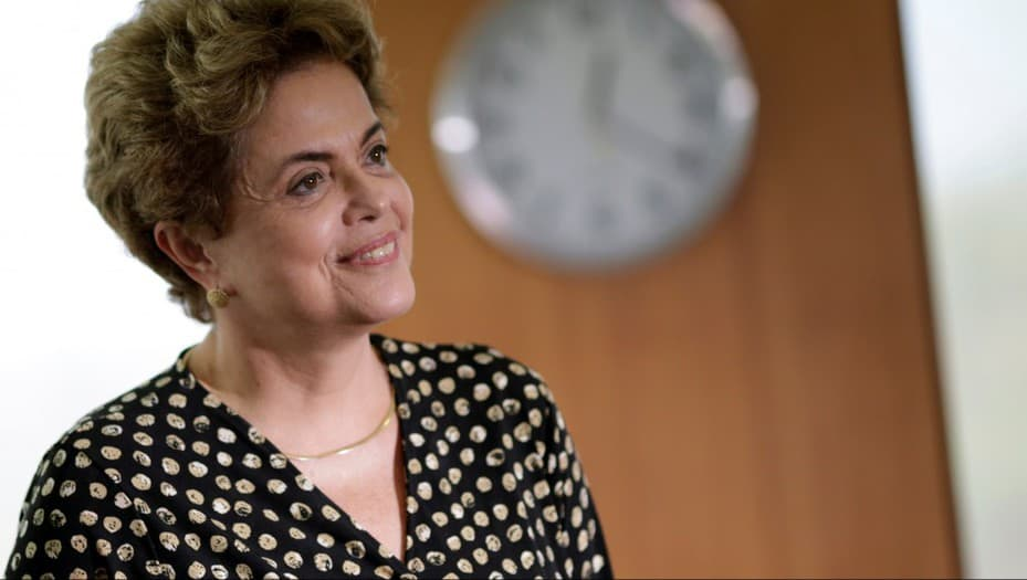 Brazil's President Dilma Rousseff smiles during a meeting with Secretary General of the Organization of American States (OAS) Luis Almagro (not pictured) in Brasilia, Brazil, May 10, 2016. REUTERS/Ueslei Marcelino - RTX2DOH9