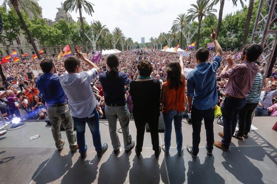 Acto Unidos Podemos Barcelona campaña 26J
