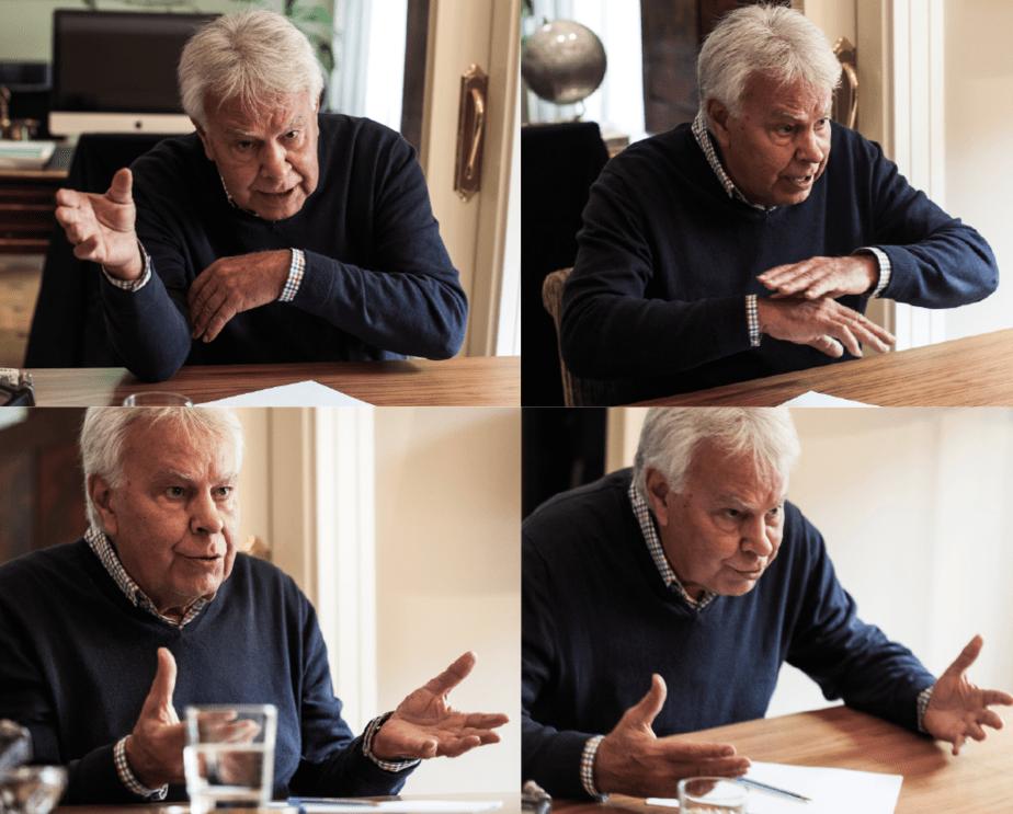 Entrevista a Felipe González. FOTO: Lino Escuris