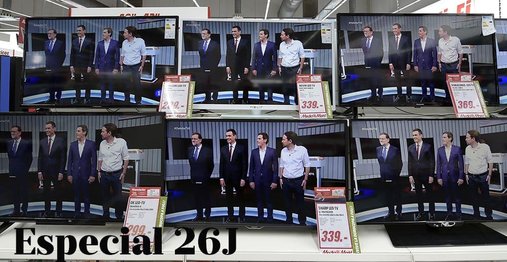 Debate a cuatro Especial 26J. FOTO: Reuters
