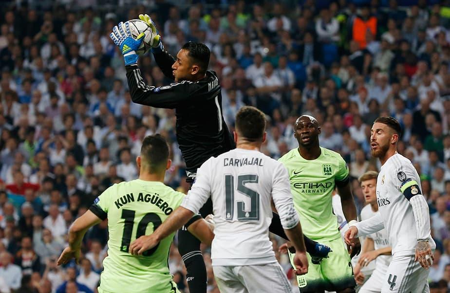 El portero del Real Madrid Keylor Navas no le teme a la competencia