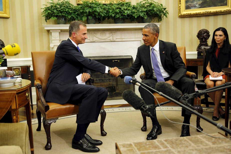 Reunión entre Barack Obama y Felipe VI en la Casa Blanca. Foto: Reuters