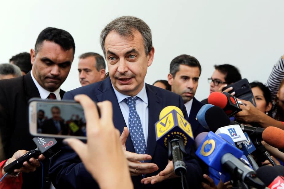 José Luis Rodríguez Zapatero en Caracas. Reuters