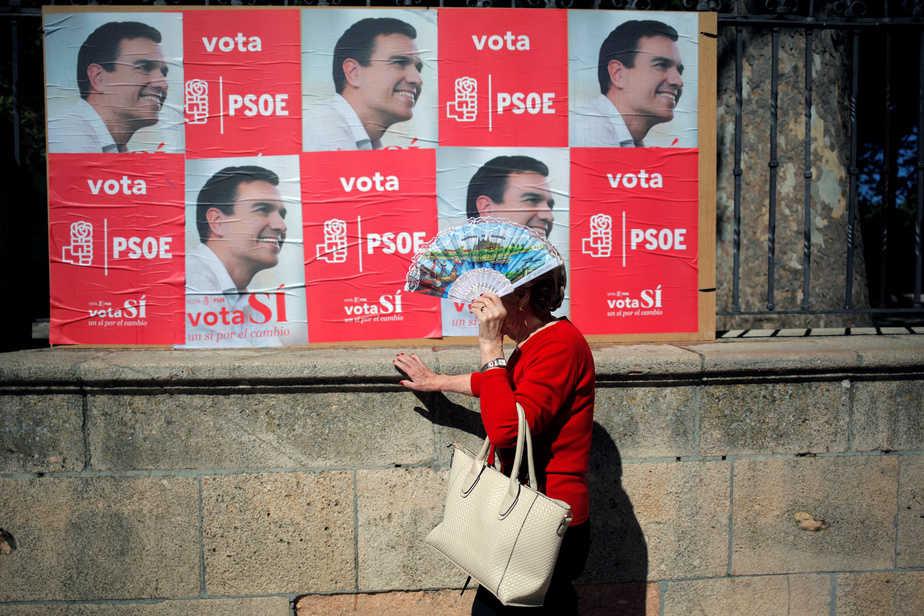 Campaña electoral PSOE. FOTO: Reuters