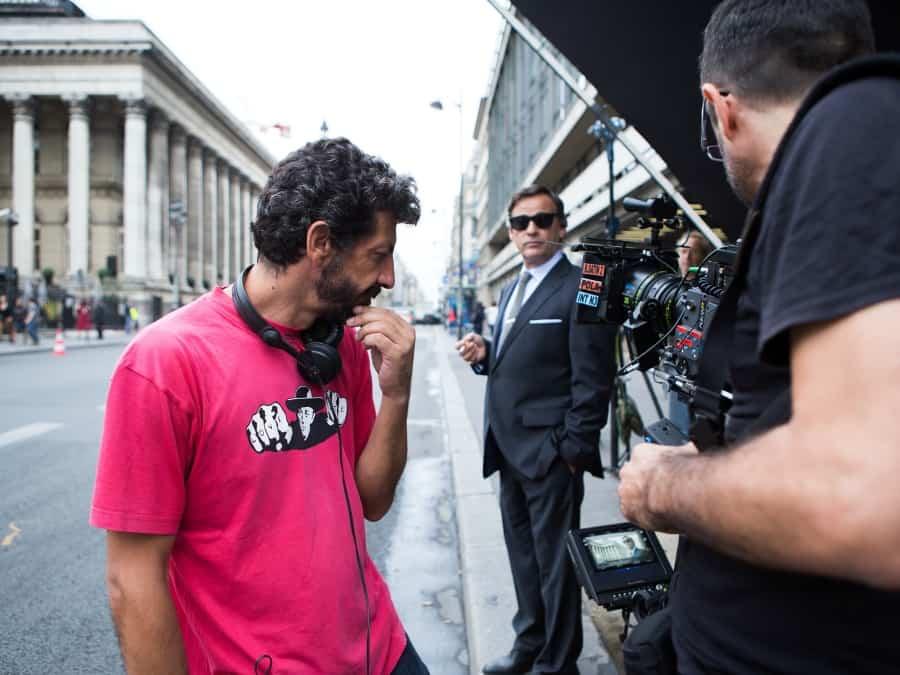 Foto del rodaje de 'El hombre de las mil caras'. Foto: @atresmediacine I Julio Vergne