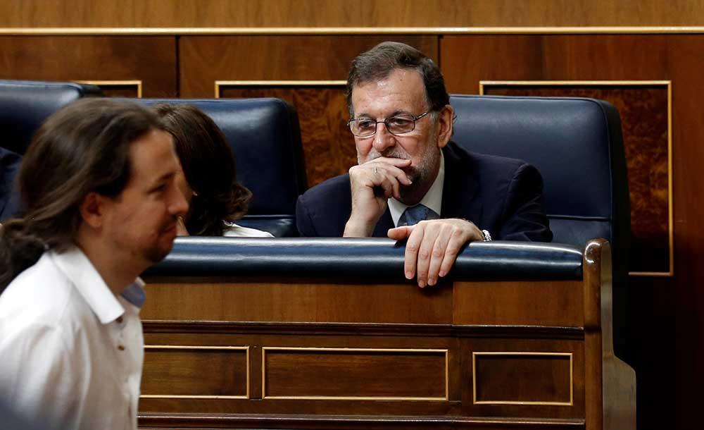 Mariano Rajoy y Pablo Iglesias en el Congreso de los Diputados