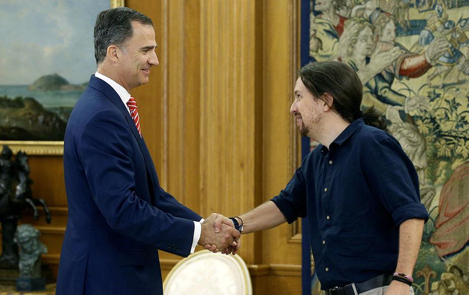 Pablo Iglesias se reúne con el Rey