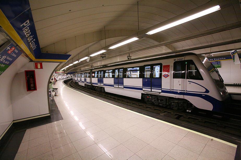 El transporte público del metro de Madrid.