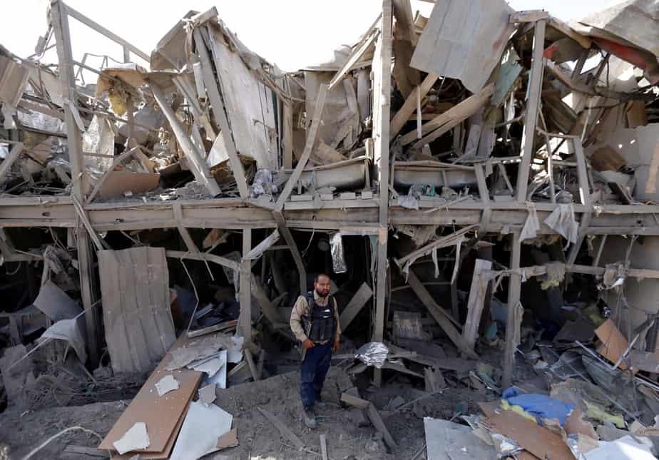 Ataque a un hotel en Kabul. FOTO: Reuters