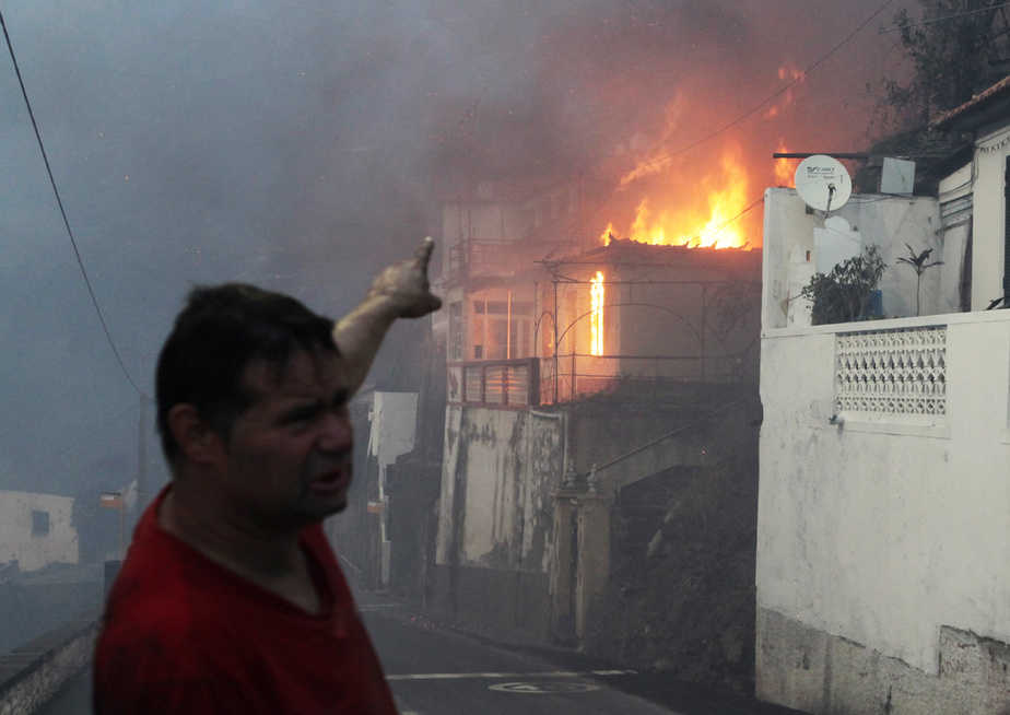Incendio en Madeira.   Foto: Reuters