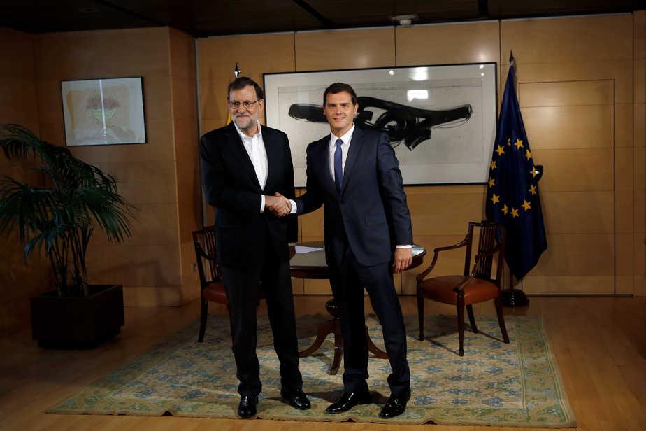 Reunión entre Albert Rivera y Mariano Rajoy.  FOTO: Reuters