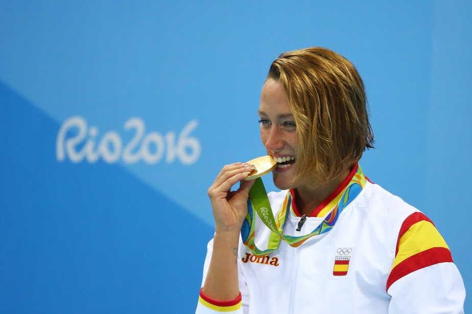 Mireia Belmonte, oro en 200 mariposa en Río 2016. FOTO: Reuters