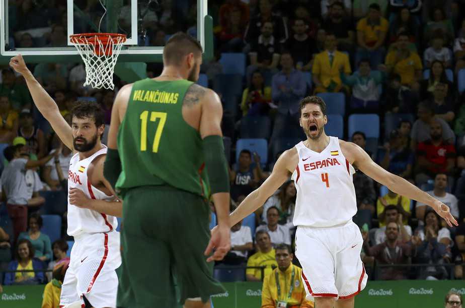 Gasol en el partido entre España y Lituania. Foto: Reuters