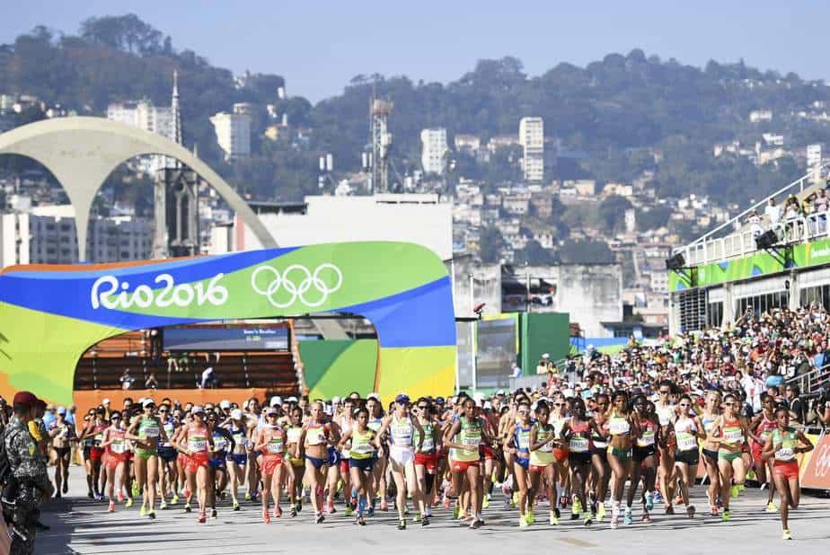 Imagen de la maratón de mujeres en Río 2016. Foto: Reuters