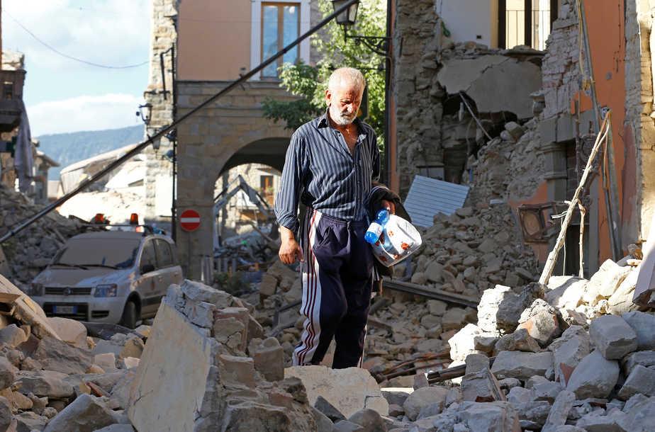 Imagen del terremoto que ha sacudido el centro de Italia.