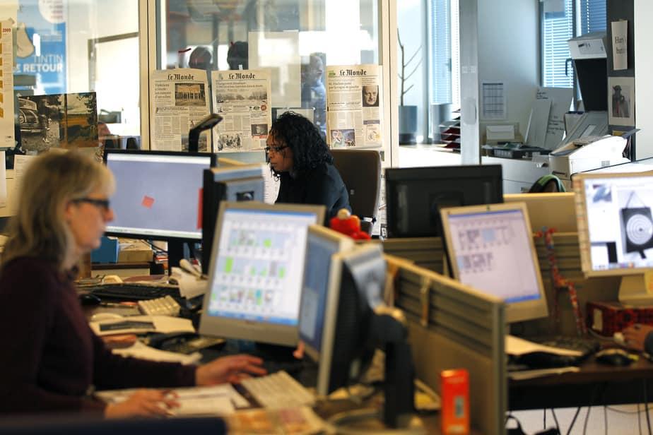 Redacción del diario francés Le Monde. FOTO: Reuters