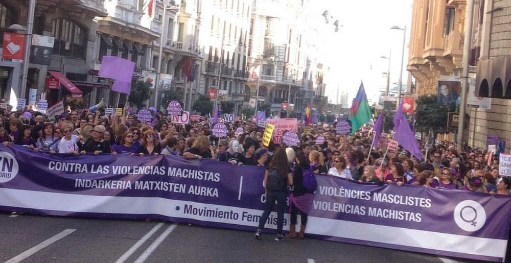 Manifestación contra la violencia machista. Foto: Óscar Abou-Kassem