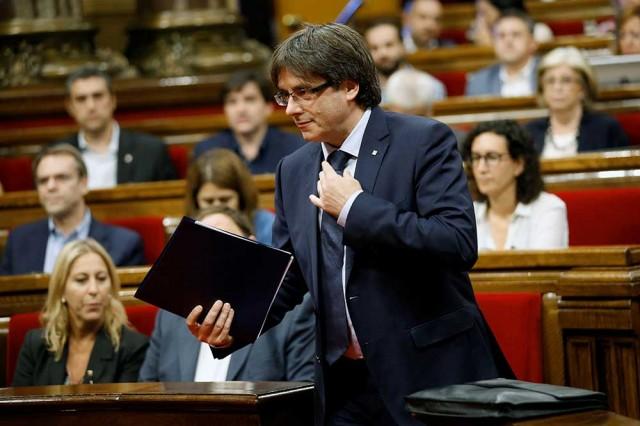 Carles Puigdemont, presidente de la Generalitat de Cataluña