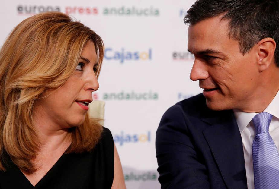 Susana Díaz y Pedro Sánchez, en una imagen de archivo. FOTO: Reuters