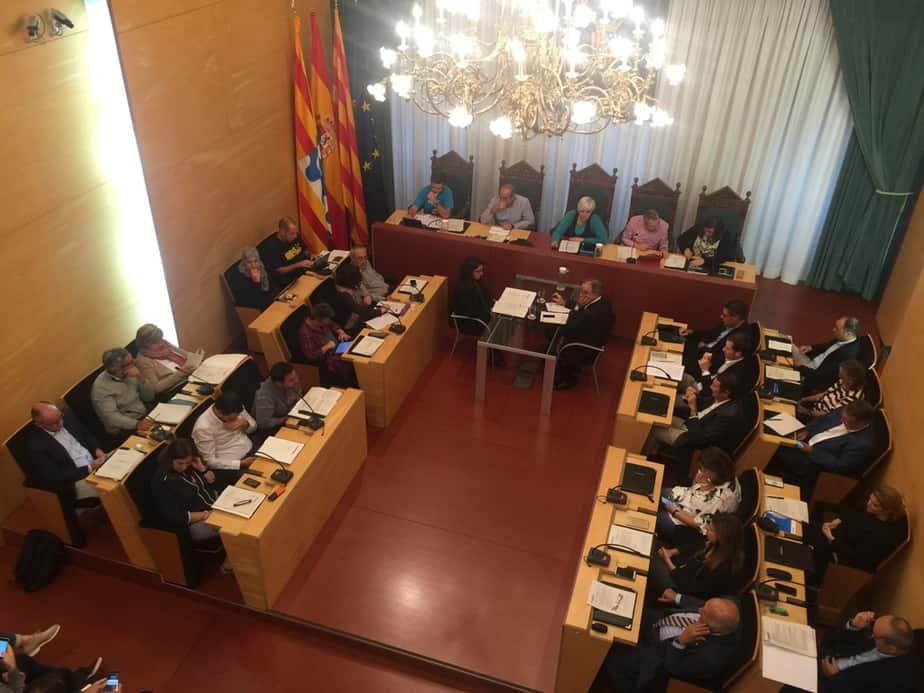 Pleno del ayuntamiento de Badalona.